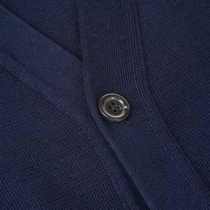 Jacken, Westen, Pullover: Jacke Wolle mit Knopfe Blau