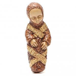 Pesebre Monasterio de Belén: Jesús marrón Natividad campesina Bethlèem