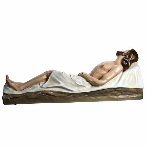 Jésus mort 140 cm fibre de verre colorée s11