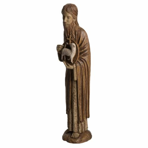 John the Baptist of Chartres statue in painted Bethléem wood, 7 s3