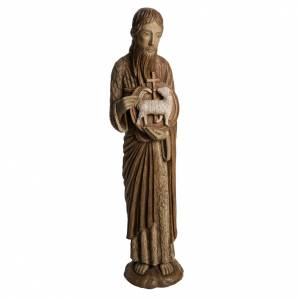 John the Baptist of Chartres statue in painted Bethléem wood, 7 s1