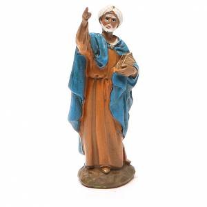 Nativity Scene figurines: King Balthazar in painted resin 10cm Martino Landi Collection