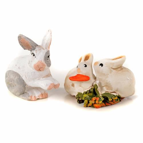 Kit conejos 7 piezas 8 - 10 cm. belén Napolitano s2