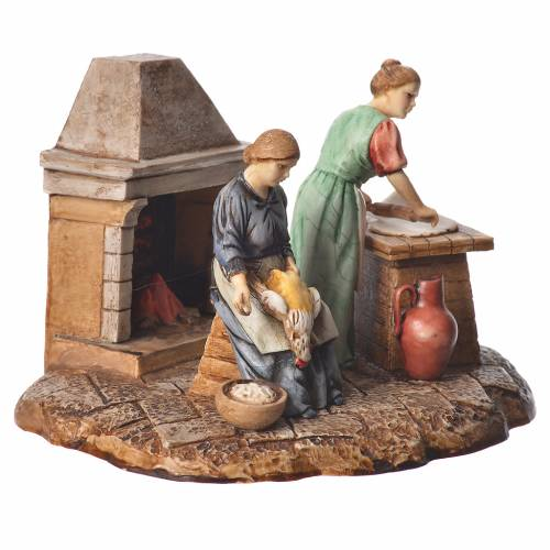 Kitchen nativity figurines 10cm Moranduzzo s3