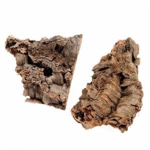 Moos, Stroh und Bäume für Krippe: Kork-Stuecke fuer Krippe 250 gr