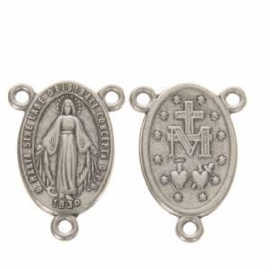 Eigenbau Rosenkränze: Kreuz Wundertätige Madonna oval, h. 1,8 cm