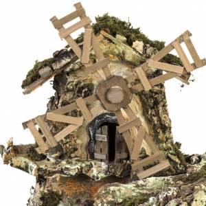 Krippe Hütten und Grotten: Krippenstall mit Wassermühle 58x50x38 cm