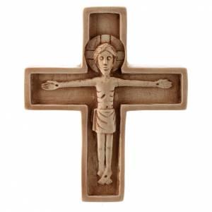 Kruzifixe aus Stein: Kruzifix aus elfenbeinfarbigen Stein, Bethleem.