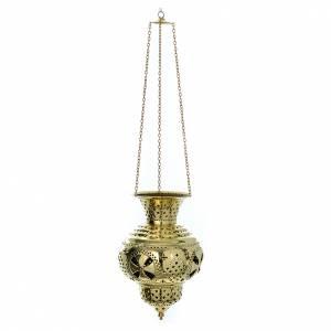 Lampe orientale en laiton Moines Bethléem h 28 cm s2