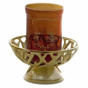 Lampes de Sanctuaire: Lampe Saint-Sacrement laiton moulé h 8 cm x 4 cm
