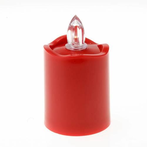 Lampe votive Led rouge bord ondulé s1