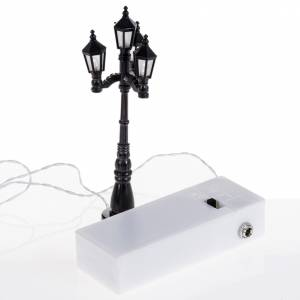 Lampione 4 luci a batteria h cm 11 s3