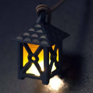 Lantern for nativities with yellow light, low voltage s3