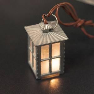 Lichter und Laterne für Krippe: Laterne aus Metall weißes Licht h 4 cm