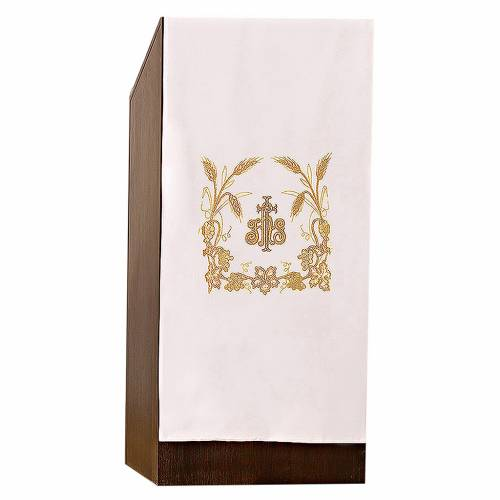 Lectern cover grapes, spikes of grain and JHS symbol s1