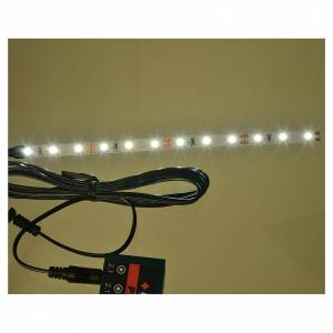 LED strip with 12 lights 0,8x16cm, white for Frisalight s2