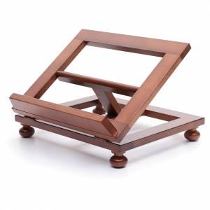 Leggio da tavolo legno noce 30x24 cm s2