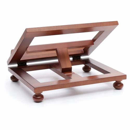 Leggio da tavolo legno noce 30x24 cm s3