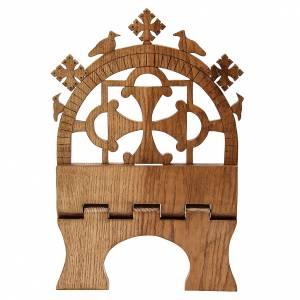 Leggio tavolo frassino scolpito Monaci Betlemme s5