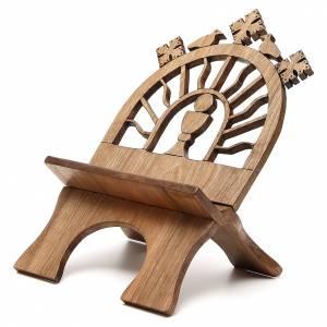 Leggio tavolo scolpito noce italiano monaci Betlemme s2