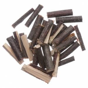 Muschio, licheni, piante, pavimentazioni: Legna tagliata fine 100 gr presepe