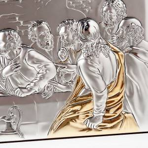 Leonardo's Last Supper bas relief gold/silver s3