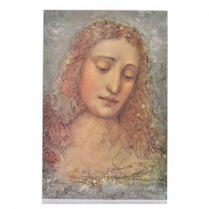 Leonardo's Redeemer, print on wood s1