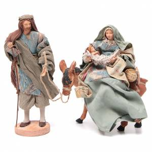 Nativity sets: Light blue Nativity on donkey, 28cm figurines