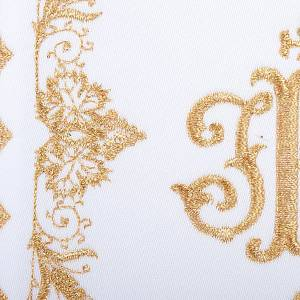 Linge d'autel 4 pcs symbole IHS doré s3