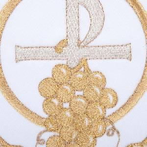 Linge d'autel 4 pièces symbole croix P raisins et &e s3