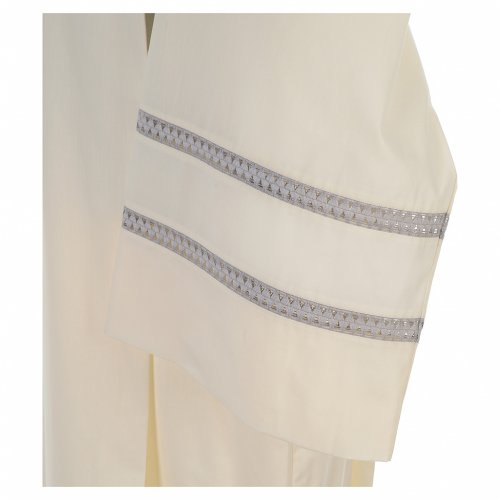 Liturgical alb with cross and gigliuccio hemstitch s3