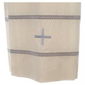 Liturgical alb with cross and gigliuccio hemstitch s2