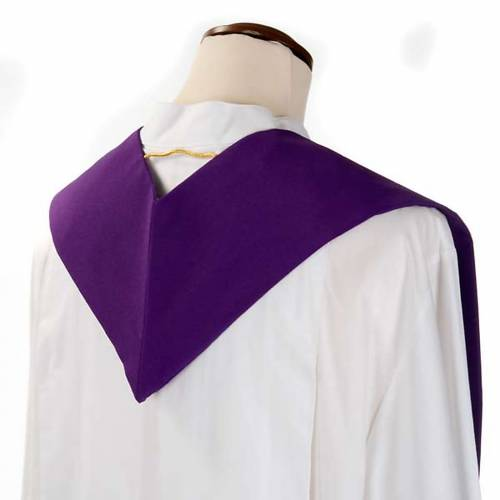 Liturgical stole with golden cross, ear of wheat and grapes s7