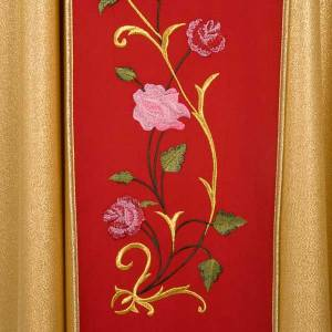 Liturgical vestment with IHS symbol and roses s4