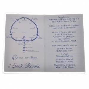 Calendriers et Livres religieux: Livre Saint Rosaire Pape François 6,5x9,5cm IT