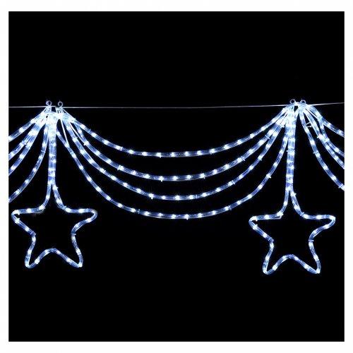 Luce festone stelle 576 led ghiaccio interno esterno s4