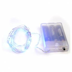 Luces de Navidad: Luces de Navidad para interior, 20 LED azules, cable desnudo