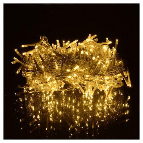 Luces navidad cadena led 240 blanco c lido exterior - Luces navidad exterior ...