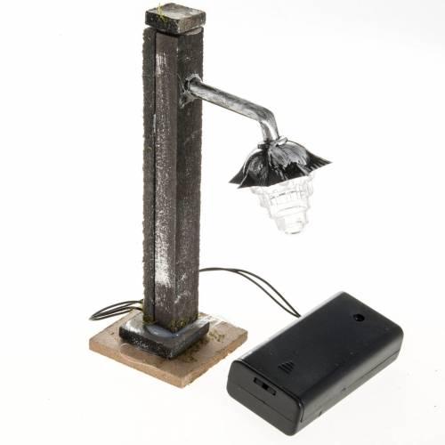 Lampione presepe metallo a batteria s3