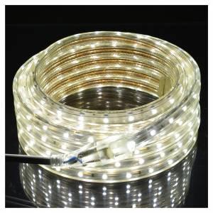 Luminaire de Noël tube slim 300 leds int blanc glace s2