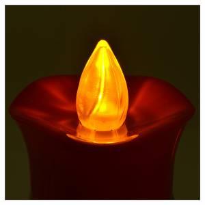 Lumini votivi: Lumino Lumada immagine Gesù bianco fiamma gialla tremula