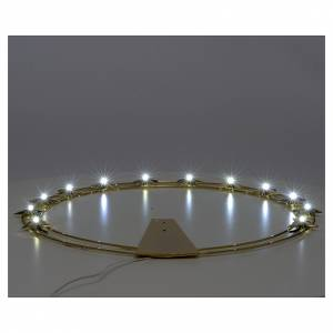 Luminous halo in gold-plated brass with LED lights s3