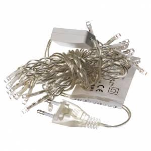 Luz navideña cadena 35 led blanco para interno s3