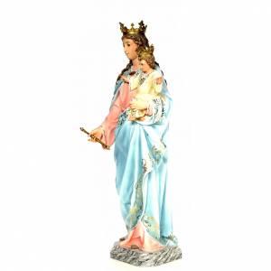 Statue in legno dipinto: Madonna Ausiliatrice 120 cm pasta di legno dec. elegante