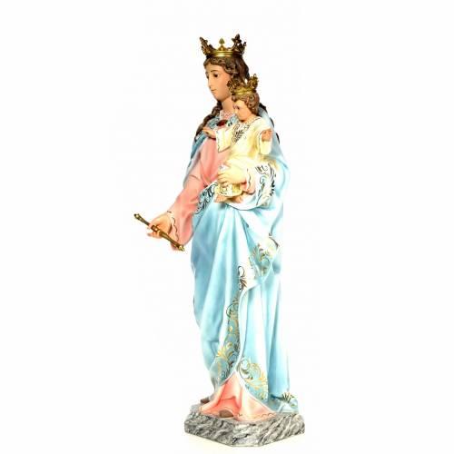 Madonna Ausiliatrice 120 cm pasta di legno dec. elegante s2