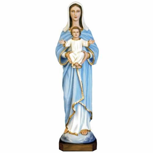 Madonna con bambino 80 cm fiberglass dipinto s1