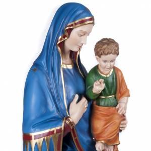 Madonna Consolata 130 cm marmo sintetico colorato s6