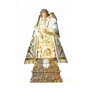 Statue in legno dipinto: Madonna dei senza tetto 140 cm pasta di legno dec. elegante