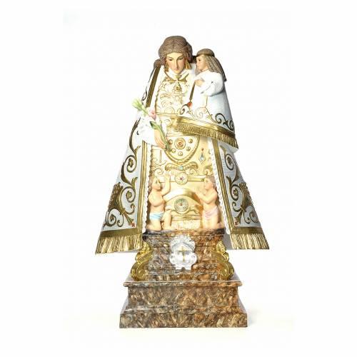 Madonna dei senza tetto 140 cm pasta di legno dec. elegante s1