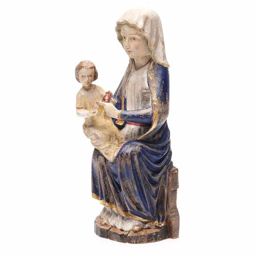 Madonna Mariazell legno Valgardena mod. Old Antico Gold s2